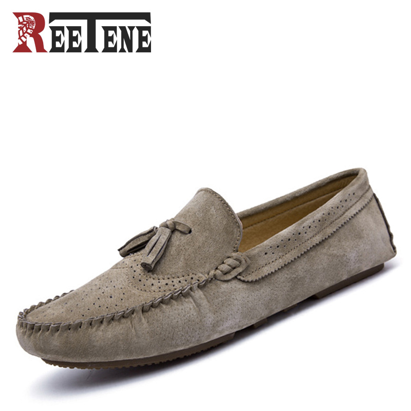 Spring Autumn Mens Loafers Genuine Leather Breathable British Design Slip On Casual Men Shoes Non-slip Soft Bottom Male Shoes<br>