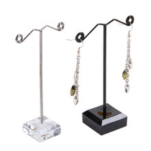 Fashion Jewelry Accessories Jewelry Display Stand 10pcs Pedestal Metal Earring Stand Holder Jewelry Store Display Shelf FB