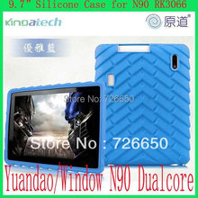 silicon case for Yuandao N90 Dual Core Window N90 Quad Core GPU RK3066 1.5G 9.7 inch IPS Android Tablet 1GB 16GB(China)