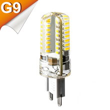 G9  4W 6W 7W 9W 10W SMD 3014 2835 SMD LED G9 220V Candle LED Lamp Crystal Silicone Candle Light Bulb Bombillas Lampadas de Lamps