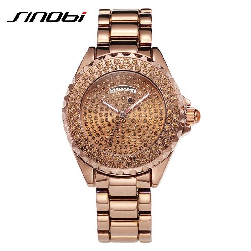 SINOBI Silver Woman Watches Rhinestone Diamond Watches For Women High Quality Fashion Female Watch Vogue Quartz Lady Wristwatch<br><br>Aliexpress