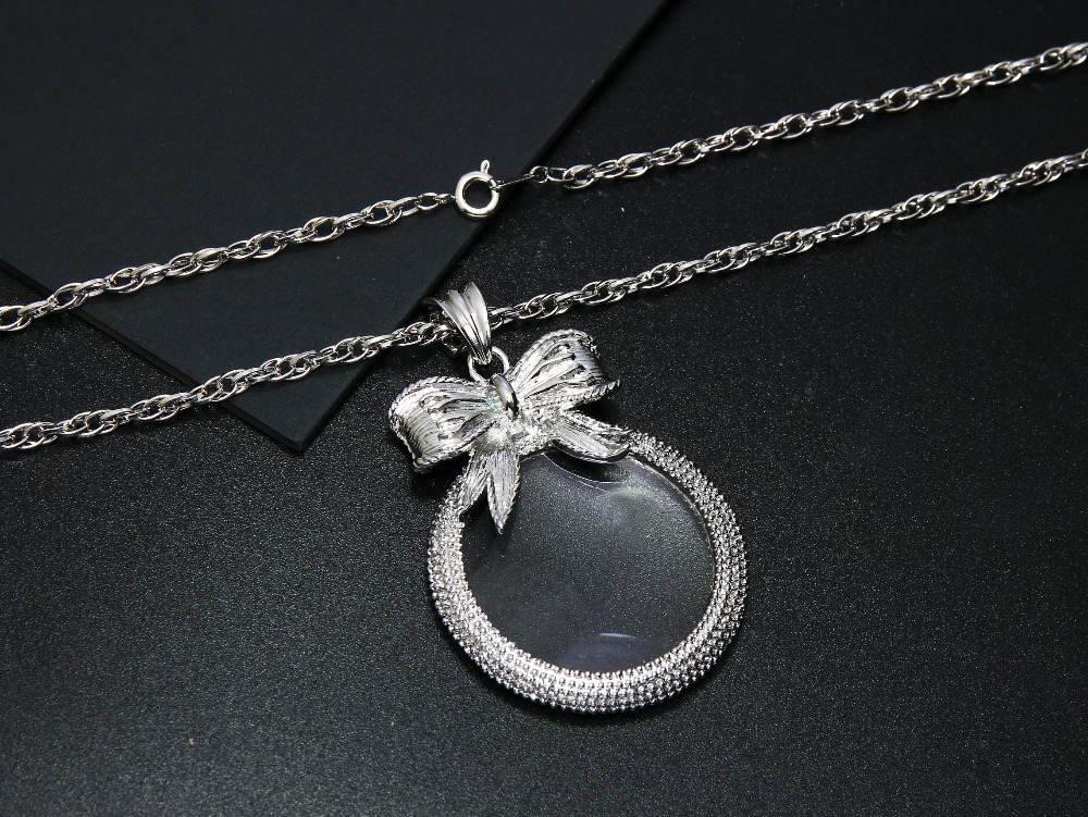 2x Magnifying Glass Top Quality Necklace Reading Glass Pendant (6)