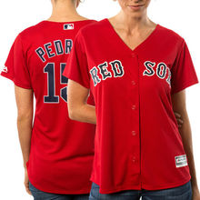 MLB Women's Boston Red Sox Dustin Pedroia Scarlet Alternate Cool Base Player Jersey(China)