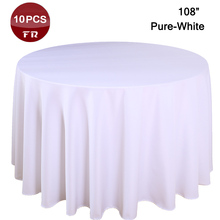 Factory Wholesale 10PC/Pack Polyester Seamless Wedding Table Cloth Cheap Machine Washable Tablecloth for Banquet Hotel Party(China)