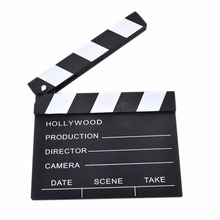 New 1Pcs Cute Classical Director Video Clapper Board Scene Clapperboard TV Movie Film Cut Prop Wholesale