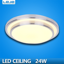 Double layer aluminum 24W Round LED ceiling light panel Surface for The kitchen,balcony,corridor,library,bathroom,restaurant(China)