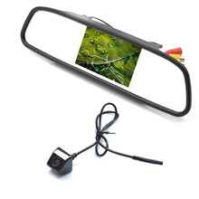 "4.3"" Screen TFT Best-Selling Car LCD Rearview DVD Mirror Monitor with Backup Camera For AUDI"