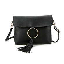 Japanese and Korean style Tassel Women Bag Fashion Messenger Bag Women Shoulder Bags PU Leather Ladies Design Small Crossbody Ba(China)