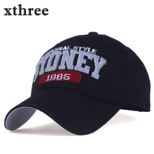 xthree spring cotton embroidery letter baseball cap snapback hats casquette bone hat for men women summer cap(China)