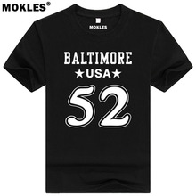 RAY LEWIS 52 baltimore custom made name number t shirt Bartow Florida t-shirt team usa print text word Miami Anthony Jr clothing(China)