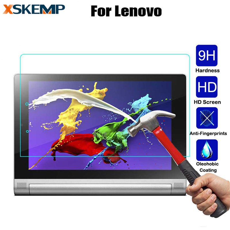 Premium 9H 0.3mm Glossy Tempered Glass Lenovo Yoga Tab 3 Pro 10.1 850F 1051F Tab 2 10.1 Tablet Film Screen Protector Cover