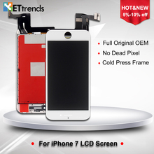 1 Piece 100% Original OEM LCD Display for iPhone 7 LCD Screen Digitizer Touch Glass Screen Assembly DHL Free Shipping