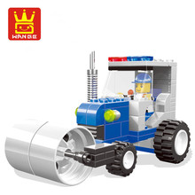 City Construction Team Bulldozer Model Building Block Toy Excavator Forklift Drill Flatbed Truck Crane Gift For Kids