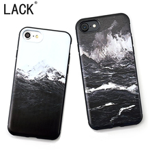 Buy LACK Cartoon Sea wave Case iphone 7 Fashion Cartoon Snow Mountain Painting Soft Back Cover iphone7 Plus Phone Cases for $1.99 in AliExpress store