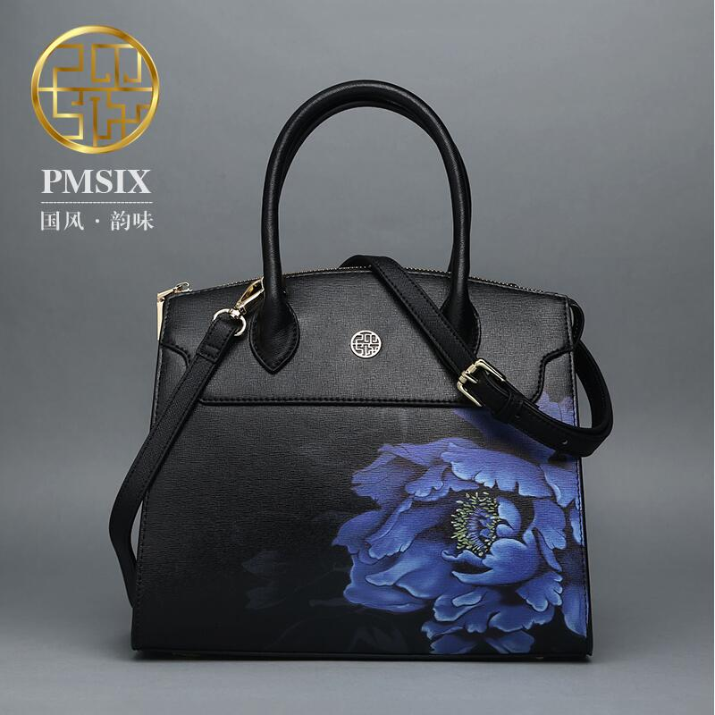 2017 Pmsix new Chinese style fashion handbags shoulder Messenger Bag leather printing simple platinum women bag<br><br>Aliexpress