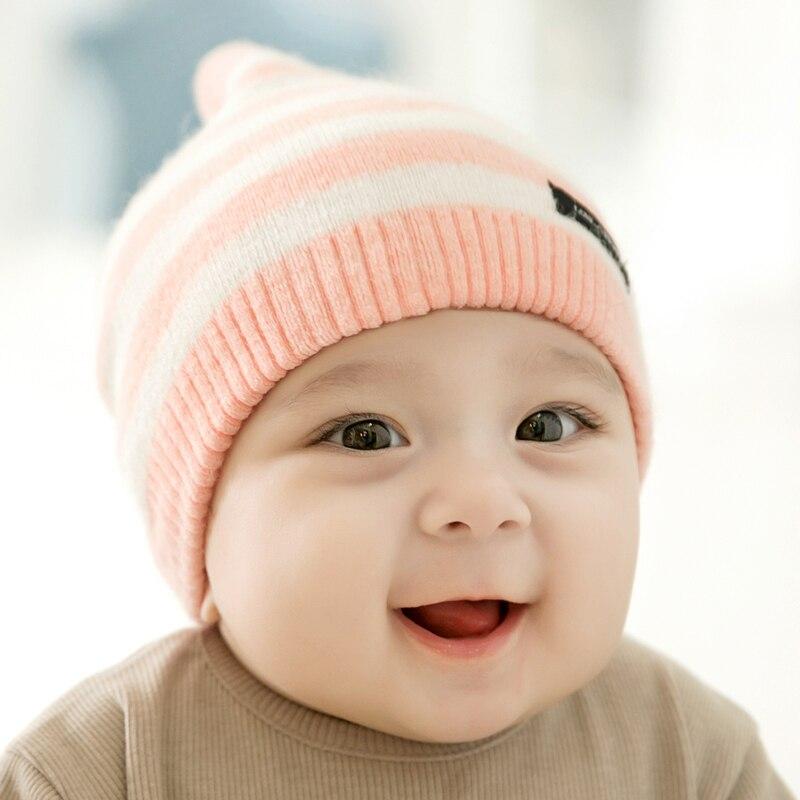 CieiK Newborn Photography Props Soft Baby Hat Warm Children Winter Cap Boys Girls beanie Infant Striped Muts Baby Accessories (8)
