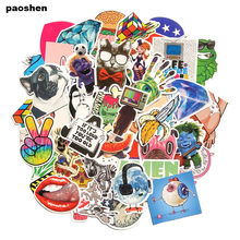 50 Pieces Do Not Repeat Waterproof Fashion cool Fun Stickers PVC sticker for Snowboard Laptop Luggage  bags handbag Toy Doodle