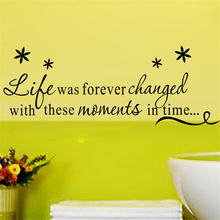 life was forever changed inspirational quotes vinyl wall stickers for living room wall art decor diy black decals