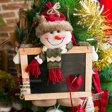 Christmas Decoration Outside Europe And The United States Santa Claus Snowman Deer Blackboard Pendant Window Decoration(China)