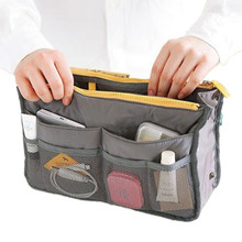2017 Women Makeup Organizer Bag Handbag Purse Large liner Travel Insert Lady Casual Cosmetic Bag Travelling Bag Multifunction