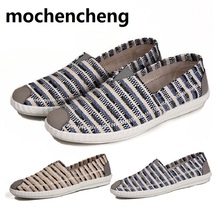 Buy 2018 Summer sports Men Shoes walking Loafers Flat Man Striped Lightweight Breathable Boat Shoes Canvas Footwear Male Hemp Sewing for $15.77 in AliExpress store