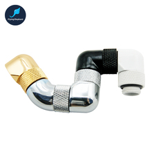G1/4 Water Cooling tube Fitting 90/135 Degree Bent Quick Twist 360 Degrees Rotating Pipe Connector