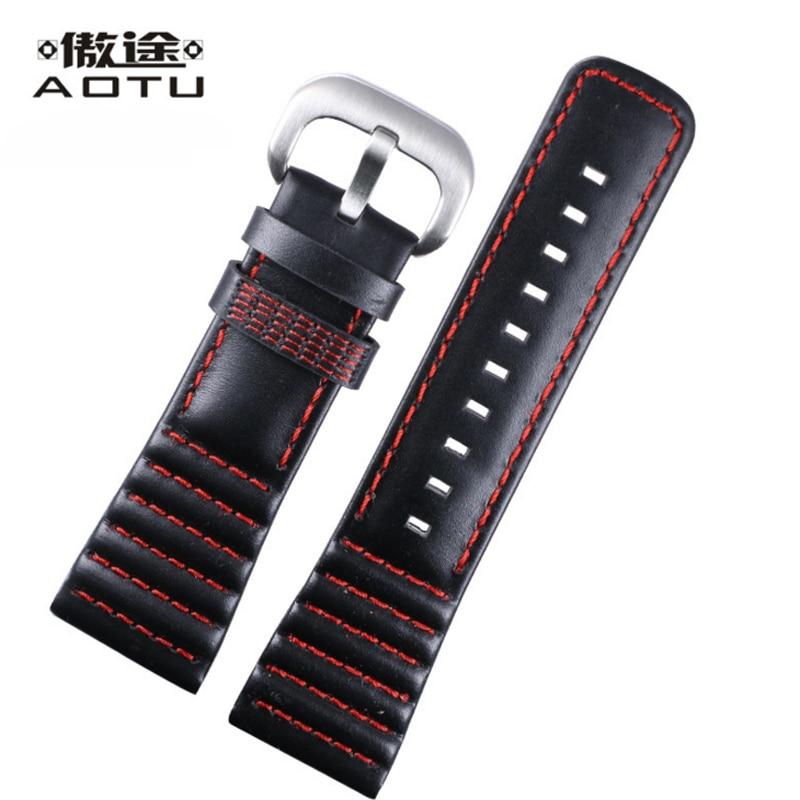 28mm Calfskin Leather Watch Strap For Seven Friday Vintage Women Watchband For Men Top Brand Male Watch Bracelet Belt Band<br>