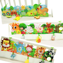 Baby Toys Cloth Books Infant Development Rustle Sound Children Educational Stroller Rattle Toy For Newborn 0-12 Month Bed Ruffle(China)