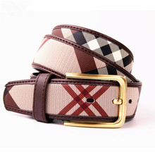 2017 Fashion famous brand lady belts designer women belt real leather belt for women luxury grid belt