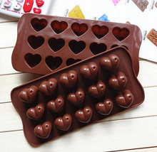 Hearts Shape Silicone Cake Bakeware Tools Chocolate Ice Mold Cake Decoration Jelly Pudding Kitchen Cooking 1 Piece