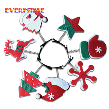 12pcs/lot Christmas Products Baby Girl Hairpin Christmas Head Decoration Hair Clips Xmas Festival Gifts Hanging Ornaments SD298(China)