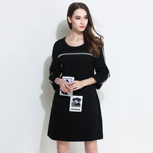 2017 New Style autumn Dress Women O Neck Long Sleeve paillette Sequins Backless Bodycon Slim a-line Party Dresses plus size(China)