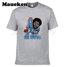 Men Earl Campbell 34 Legend Houston Oilers T-shirt Clothes T Shirt Men's tshirt tee W17112602(China)