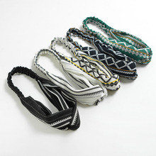 Women Twisted Headband Ladies Elastic Headbands Cross Printed Turban Girls Fabric Hairbands Striped Headwrap Hair Accessories