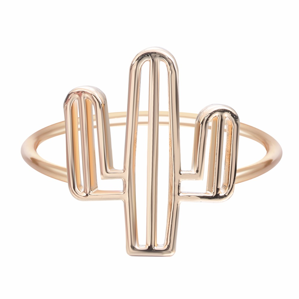 QIAMNI-New-1pcs-Cacti-Tree-ring-Insect-Series-Bee-Cactus-Gem-Opening-Rings-For-Women-Brand