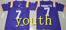 Nike 2017 Youth LSU Tigers Leonard Fournette 7 College Ice Hockey Jersey - Gridiron Gold Size S,M,L,XL Odell Beckham Jr. 3(China)