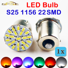 1156 22SMD Car LED Bulb P21W BA15S Auto Rear Turn Signal Lights Parking Lamp 12V