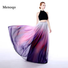 Menoqo Real Image Vestidos 2017 prom dress two pieces long Gradient Ombre Chiffon Floor Length Long Party Dresses For Graduation(China)