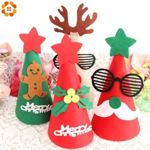 New 1PCS Cute Children Christmas Santa Claus Hat For Home Christmas Party/Windowsill/Dining Table Decoration Kids Gifts Supplies