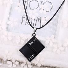 Hot Anime Death Note black book charm necklace personalized collar necklace hot sale rope necklace male Famous Anime Gift