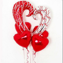 5pcs/lot 43inch hook heart ballons 18inch red helium balloon I Love You Foil Balloons Globos Party Wedding Decoration Ballons