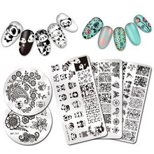 BORN PRETTY Nail Stamping Plate Animal Plant Cute Cat Flower Design Nail Art Stamp Template Stencil Nail Image Plate(China)
