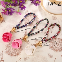 Beautiful Universal Flower Wrist Hand Strap Lanyard for Mobile Cell Phone Camera USB MP4 MP3 PSP Short Straps