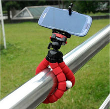 Phone Holder +Mini Flexible Octopus Tripod Bracket Stand Mount Monopod Adjustable Accessories For iphone Camera(China)