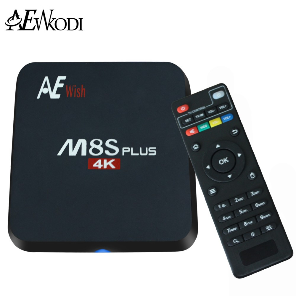 ANEWKODI Android Tv Box M8S PLUS M8s+ Quad-Core Smart TV Amlogic S905 KD 16.0 4K 2G/16G WIFI Full HD Android 5.1 Media Player(China (Mainland))