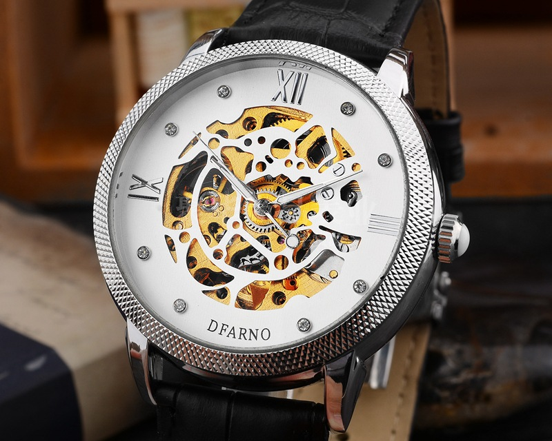 Mens watch top brand monte Homme clock leather luminous universal waterproof business mens steel watch mechanical watch Benz<br>