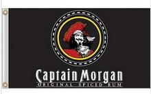 Free shipping 3x5FT Captain Morgan Rum Banner Flag Sign Bar decorative banner custom flag digital printing 100D(China)