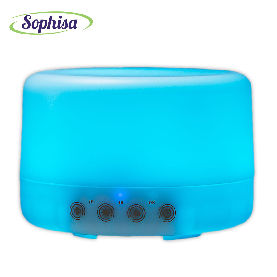Sophisa 500ml Round shape Essential Oil Diffuser Air Purifier Touch Control Ultrasonic Aromatherapy Humidifier gift SP168S<br>
