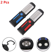 2PCS 360 Degree Foldable 36+5 LED Flexible Hand Torch Work Light Magnetic Inspection Lamp Flashlight USB Mobile Power Charger(China)