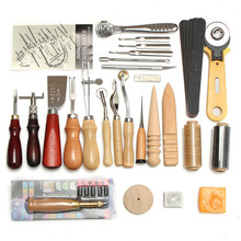 Buy Practical 37Pcs Leather Craft Tools Kit Hand Sewing Stitching Punch Carving Work Saddle Accessories Personalizing for $42.28 in AliExpress store